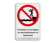 Informatiebord BPR verboden te zwemmen art. 8.08