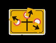 Omleidingsbord WIU geel - variabel - met vertind blik en magneetvlakken