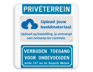 Informatiebord - Privéterrein - Eigen logo - Verboden toegang