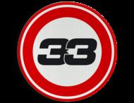 Verkeersbord - MAX 33 km/h snelheid