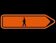 Verkeersbord SB250 F41 - Voetganger Rechts