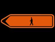 Verkeersbord SB250 F41 - Voetganger Links