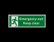 Emergency exit - 300x100mm - groen/wit