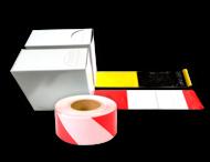Afzetlint 500 meter - geel zwart of rood wit