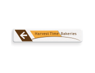 Informatiebord - Harvest Time - routepijl - 1000x200x28mm