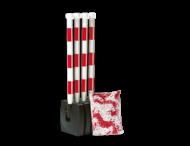 Kettingpalen (set van 4) Ø50x900mm kunststof + 10m ketting - Guarda-Flex