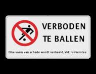 Verkeersbord RVV C01 voetballen verboden - 3txt-ondertekst