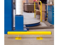 Aanrijbeveiliging - Stalen vloerbalk Ø76x200 mm hoog Black Bull
