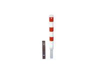 Afzet-, rampaal (SH3) Ø193x2.000 mm hoog - wit/rood - zelf te verzwaren met beton