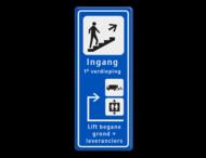 Informatiebord route - ingang - expeditie en lift
