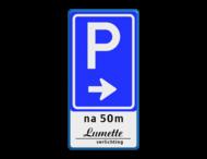 Verkeersbord RVV BW201 + tekst/logo