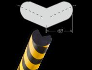 Randbescherming Cirkel Buitenhoek Tweebenig zelfklevend MORION