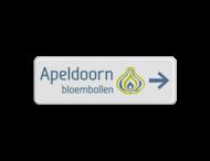 Logobord + naam en pijl - vol reflecterend