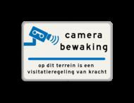 Verkeersbord 600x400mm camera_txt Bosch-Nefit