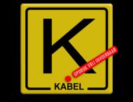 Informatiebord Kabel geel/zwart + tekst
