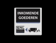 Tekstbord wit/zwart/blauw SNL