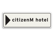 Informatiebord 900x300mm CitizenM Sign