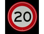 Verkeersbord RVV A01-020 - Maximum snelheid 20 km/h