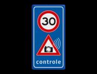 Verkeersbord Snelheidscontrole - fotocamera