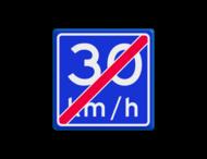 Verkeersbord RVV A05-vrij invoerbaar - Einde adviessnelheid