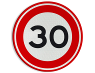 Verkeersbord RVV A01-030 - Maximum snelheid 30 km/h
