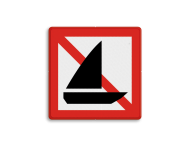 Scheepvaartbord BPR A.15 - Verboden voor zeilschepen