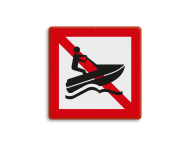 Scheepvaartbord BPR A.20 - Verboden voor waterscooters