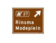 Routebord ANWB eigen ontwerp 4000x3300mm - Modeplein Rinsma - toeristisch