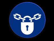 Veiligheidspictogram - Afsluiten verplicht - M028