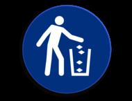 Veiligheidspictogram - Afval verwijderen - M030