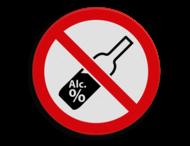 Veiligheidspictogram - Alcohol verboden