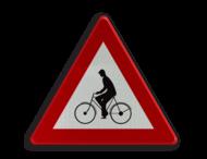 Verkeersbord België A25 - Oversteekplaats voor fietsers