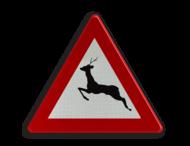 Verkeersbord België A27 - Doortocht van groot wild