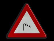 Verkeersbord België A37 - Zijwind