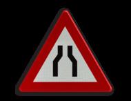 Verkeersbord België A07a - Rijbaanversmalling