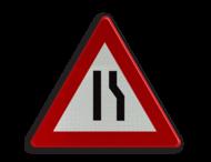 Verkeersbord België A07b - Rijbaanversmalling rechts