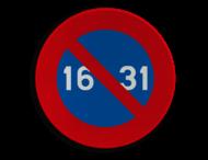 Verkeersbord België E07 - Stilstaan en parkeren verboden