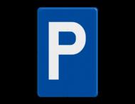 Verkeersbord België E09a - Parkeren toegelaten