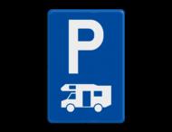 Verkeersbord België E09h - Parkeren uitsluitend voor kampeerauto's.