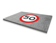 Markering RVV teken rond thermoplast