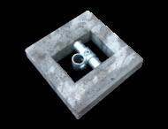 Betonblok 400x400x70 mm voor buis ø48 mm
