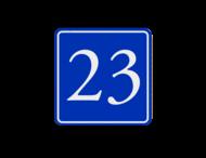 Huisnummerbord (LOS)  blauw/wit