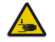 Pictogram W024 - Klemgevaar voor handen