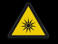 Pictogram W027 - Gevaar voor optische stralen