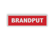 Informatiebord wit - rode opdruk - BRANDPUT
