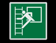 Veiligheidspictogram - Noodraam met vluchtladder - E016