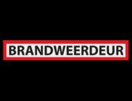 Informatiepaneel 1300x200x2mm VOL reflecterend - BRANDWEERDEUR