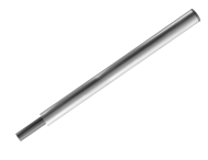 Verkeersbord-buispaal 1800mm Aluminium + adapter voor parasolvoet
