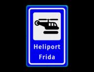 Verkeersbord  heliport - 3 txt