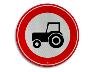 Verkeersbord RVV C08 - Gesloten voor langzaam verkeer
